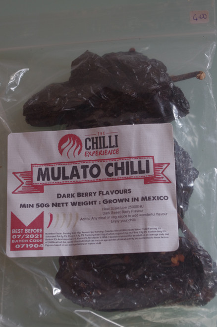 Mulato Chilli (Dried) - 50g