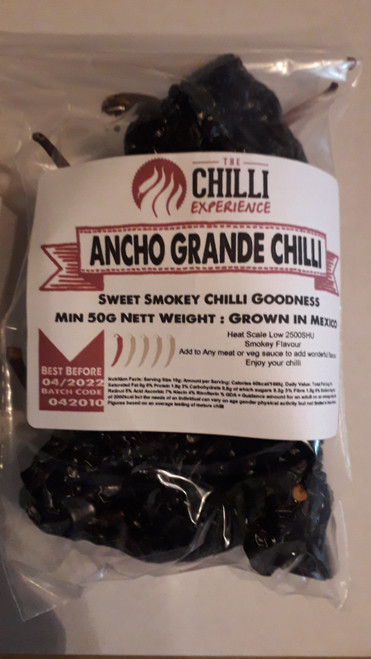 Ancho Grande Chilli Whole - 50g