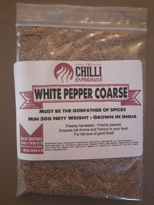 White Pepper Coarse Ground - 50g