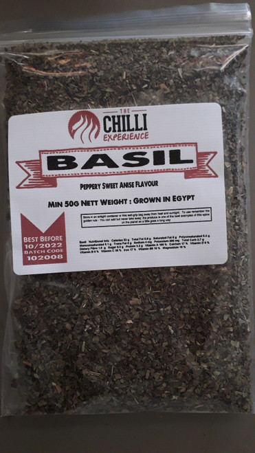 Basil Dried (Cut) - 50g