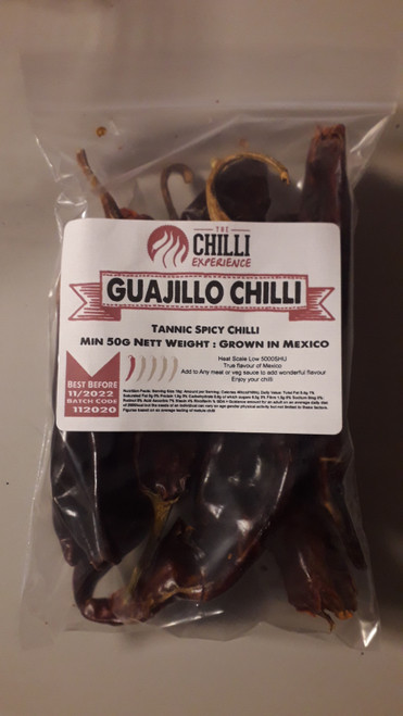 Guajillo Chillies (Whole) - 50g