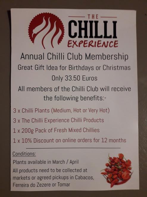 The Chilli Club Membership - 2021