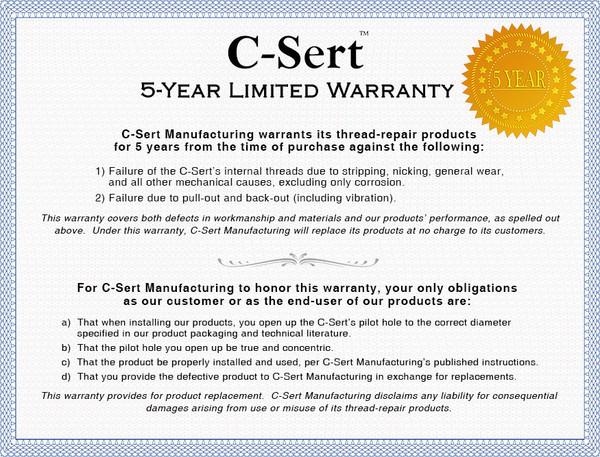 C-Sert Warranty