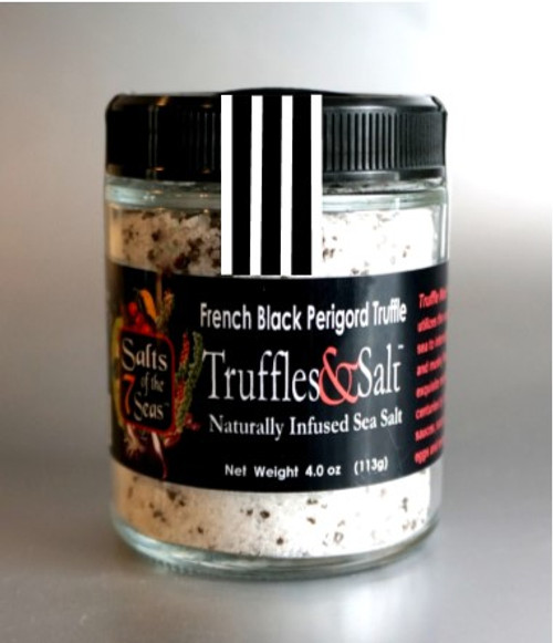 Truffle Noir infused sea salt is infused with French Black Perigold truffle giving it an earthy flavor. It is like adding another layer of flavor to your food.