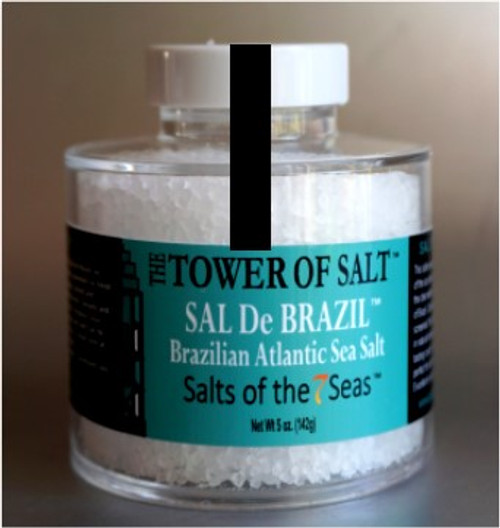 Sal De Brazil sea salt is a crisp white sea salt from the coast of Brazil. Presented in a heavy acrylic jar that stacks for easy storage.
