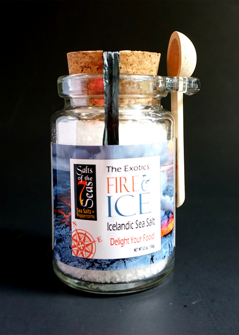 Fire & Ice Exotic Sea Salt is a crisp and flaky sea salt created in the  north Atlantic sea waters of Iceland.