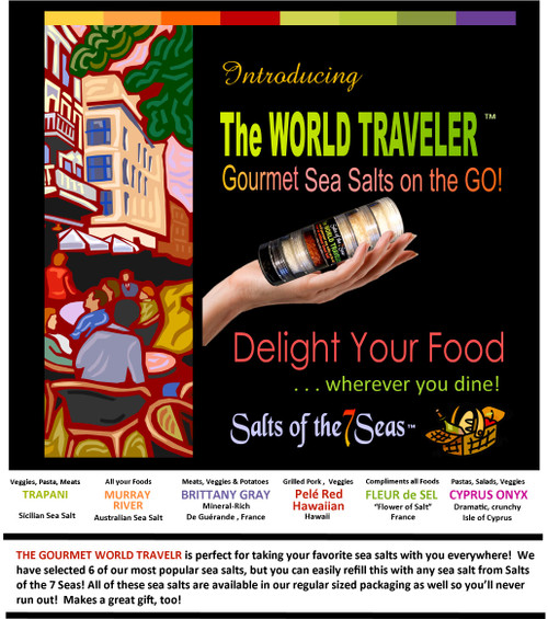 Sea Salt Traveler, never be without good sea salt, take everywhere, perfect gift