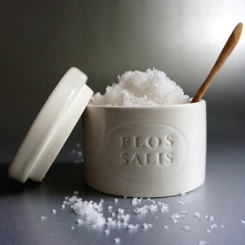 Salts of Magellan ceramic crock contains white sea salt from Portugal. It is the perfect gourmet gift!