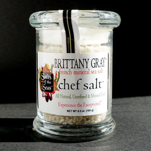 Brittany Gray Sea Salt is an exotic, coarse grained gray sea salt that can be used in a grinder or served from a small dish on the table. Follow the Celtic tradition and try some today!