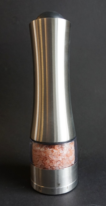 Avalon Sea Salt or Peppercorn Mill is an electric grinder that allows you to adjust your grind quickly , easily and accurately . It features an LED light to see what it is that you are grinding and it is easy to fill!