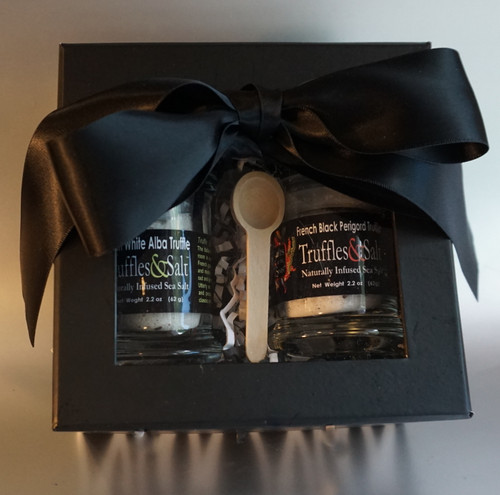 This European Truffle Sea Salt gift set is the perfect answer for any gourmet food lover, foodie or for the person who has everything!