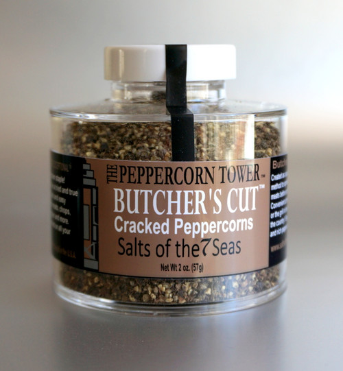 Try this bold, cracked black peppercorns on all your grilled creations. Taste what real pepper tastes like!