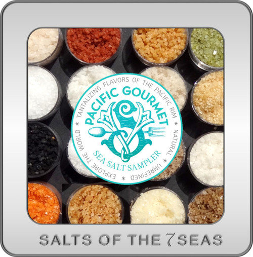 Pacific Gourmet Sea Salt Sampler in Tin makes the perfect exotic sea salt gift. Repurpose the container and come back to shop for your favorites.