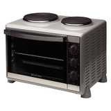 Russell 30L Compact Kitchen Convection Oven with Hotplates - Betta Online Only Price