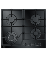 Haier 60cm Black Glass 4 Burner Gas Cooktop - Betta Online Only Price