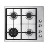 Fisher & Paykel 60cm 4 Burner NG Gas on Steel Cooktop - Betta Online Only Price