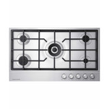 Fisher & Paykel 90cm 5 Burner Gas on Steel Cooktop - Betta Online Only Price