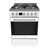 Parmco 60cm White Dual Fuel 8 Function Freestanding Cooker - Betta Online Only Price