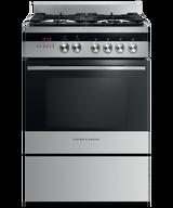 Fisher & Paykel 60cm S/Steel Dual Fuel Freestanding Cooker - Betta Online Only Price