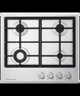 Fisher & Paykel 60cm S/Steel 4 Burner Gas Cooktop - Betta Online Only Price