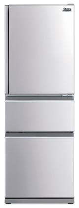Mitsubishi Electric 370L S/Steel Multi Drawer Fridge/Freezer Left Hand - Betta Online Only Price