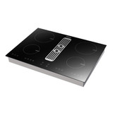 Parmco 70cm Black 4 Zone Induction Cooktop with Built-in Downdraft - Betta Online Only Price