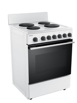 Robinhood 60cm White Hot Plate Electric Freestanding Cooker - Betta Online Only Price