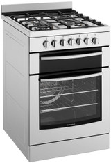 Westinghouse 60cm S/Steel Dual Fuel Freestanding Cooker - Betta Online Only Price