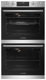 Westinghouse 60cm S/Steel 8/8 Function Double Built-in Oven with AirFry - Betta Online Only Price