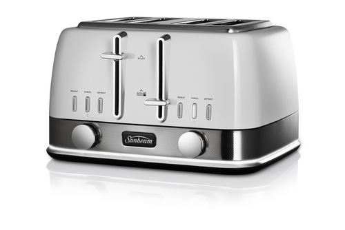 Sunbeam New York Collection 4 Slice Toaster White Silver - Betta Online Only Price