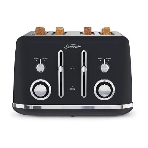 Sunbeam Alinea Collection 4 Slice Toaster Black - Betta Online Only Price