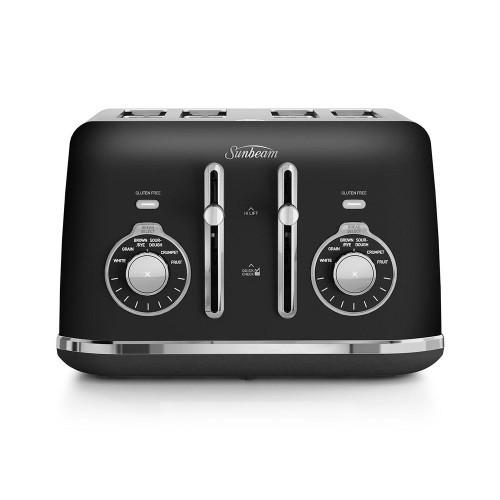 Sunbeam Alinea Collection Black 4 Slice Toaster - Betta Online Only Price