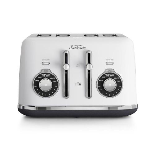 Sunbeam Alinea Collection White 4 Slice Toaster - Betta Online Only Price