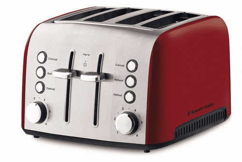 Russell Hobbs Heritage Vogue 4 Slice Toaster Ruby Red - Betta Online Only Price