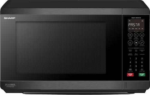 Sharp 30L 1200W Black S/Steel Flatbed Microwave - Betta Online Only Price