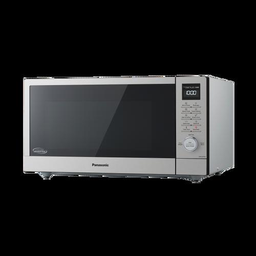 Panasonic 44L S/Steel Genius Sensor Cyclonic Microwave Oven - Betta Online Only Price