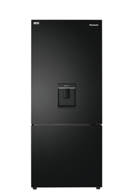 Panasonic 419L Black Bottom Mount Fridge/Freezer with Hygiene Water - Betta Online Only Price