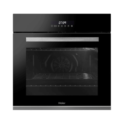 Haier 60cm Black 10 Function Pyrolytic Built-in Oven - Betta Online Only Price
