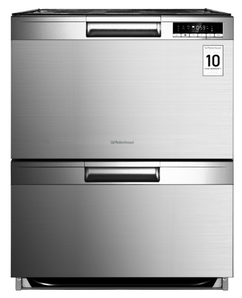 Robinhood 14 Place S/Steel Freestanding Dual Drawer Dishwasher - Betta Online Only Price