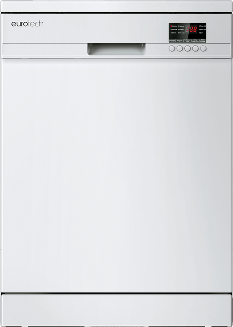 Eurotech 12 Place White Freestanding Dishwasher - Betta Online Only Price