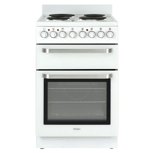 Haier 54cm White Hot Plate Electric Freestanding Cooker - Betta Online Only Price