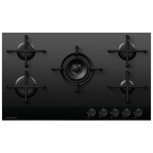 Fisher & Paykel 90cm 5 Burner LPG Gas on Glass Cooktop - Betta Online Only Price