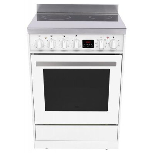 Eurotech 60cm White Ceramic Electric Freestanding Cooker - Betta Online Only Price