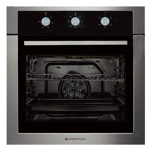 Parmco 60cm Wide S/S Trim 5 Function 76L Built-in Oven - Betta Online Only Price