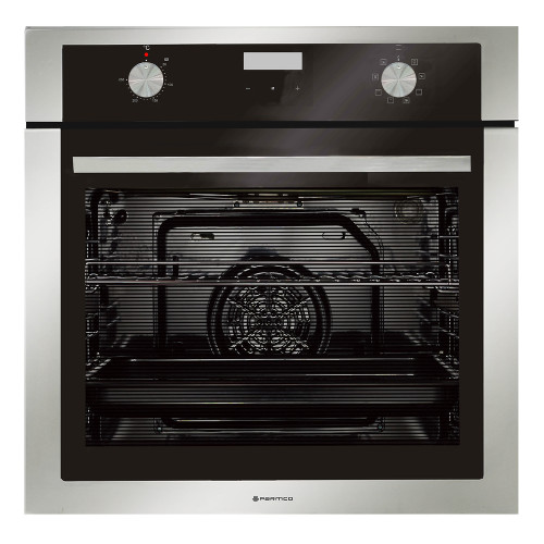 Parmco 60cm Wide S/S Trim 8 Function 76L Built-in Oven - Betta Online Only Price