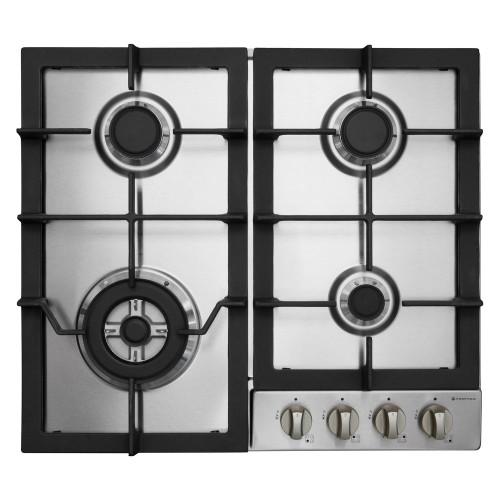 Parmco 60cm S/Steel 3 Burner + Wok Gas Cooktop - Betta Online Only Price