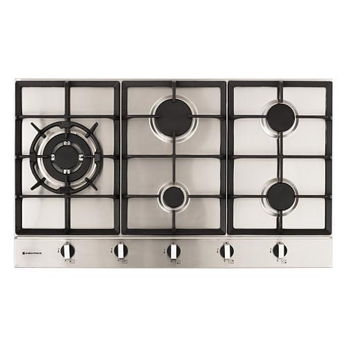 Parmco 90cm S/Steel 4 Burner + Wok Gas Cooktop - Betta Online Only Price