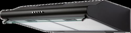 Eurotech 60cm Black Freestanding Rangehood