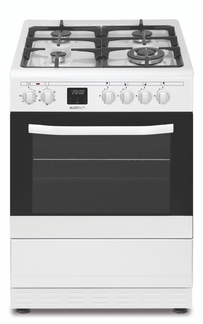 Eurotech 60cm White 5 Function Dual Fuel Freestanding Cooker