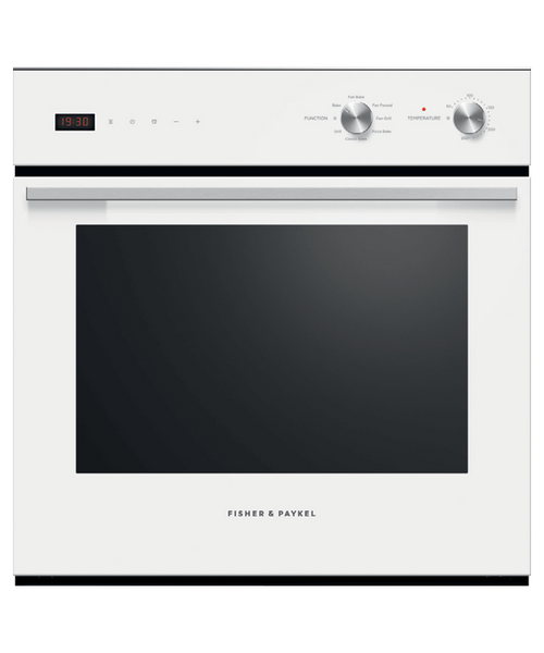 Fisher & Paykel 60cm White 7 Function Pyrolytic Built-in Oven - Betta Online Only Price
